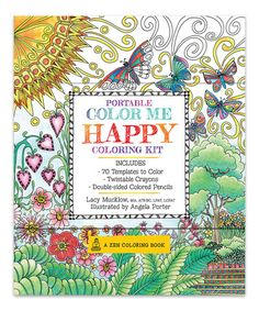 Loving this Portable Color Me Happy Coloring Book Set on #zulily! #zulilyfinds  $9.99