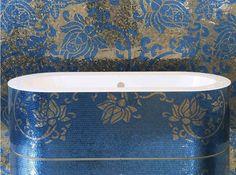 Luxury Mosaic Bathtub by SICIS The Art Mosaic Factory http://www.sicis.com