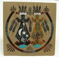 New Navajo Sand Painting Mother Sky signed BMT?