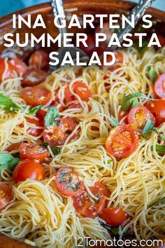 Summer Pasta Dishes, Summer Pasta Salad, Summer Salads, Best Pasta Dishes, Summer Side Dishes, Summer Recipes, New Recipes, Vegetarian Recipes, Cooking Recipes