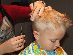 Mom's of boys...if you're gonna do it...do it right!!! Step by step on how to cut boys hair the professional way.