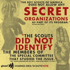 REPIN if you agree with Zach Wahls that the Boy Scouts should stop the secrecy!    Sign Zach's petition at http://change.org/scoutsvote