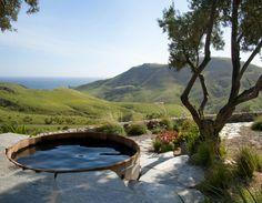 cedar above ground hot tub