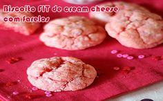 Biscoito de cream cheese com morango falso FIT - Powered by @ultimaterecipe