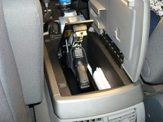 hide a gun in your car? Here's a few ideas Photos) Great quick concealed carry for the car. Need to do this in SportGreat quick concealed carry for the car. Need to do this in Sport Rifles, Home Design, Weapon Storage, Vehicle Storage, Trailer Storage, Truck Storage, Boat Storage, Hidden Storage, Secret Gun Storage
