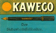 Love this old #Kaweco Pen packaging as much as the pens themselves!