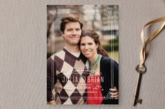 Hand-Drawn Frame Save the Date Cards by Jennifer Wick @Minted