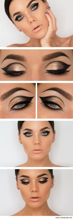 Amazing makeup for blue eyes... Personally I think brown eyes would be better!!!