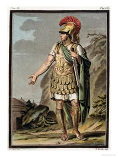 "ACHILLES IN ARMOUR, COSTUME FOR ""IPHIGENIA IN AULIS"" Giclee Print