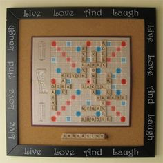 I bought an extra Scrabble game board and can't wait to get started on this!!