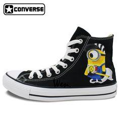 Minions Converse All Star Women Men Shoes Custom Design Despicable Me Hand  Painted Canvas Shoes Boys 03a6826ca2d0