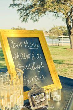 Cute Wedding Bar Sign!!
