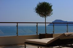 Our Imperial Double Rooms in Chania ensure a relaxing stay in their charmingly interiors featuring with amazing Cretan sea view. Double Room, Double Beds, Beach Accommodation, Two Twin Beds, Imperial Beach, Crete, Sun Lounger, Luxury, Building