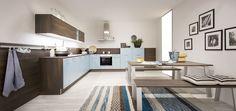 blaue Küche von MÖBEL KRAFT