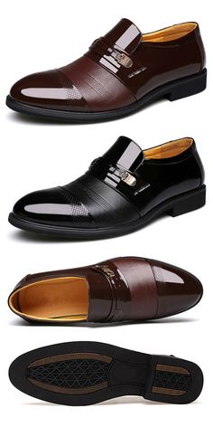 39381366a  48%OFF Mens Cap Toe Pointed Toe Slip On Business Formal Shoes