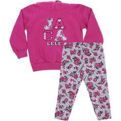 Conjunto Infantil Menina Com Legging Floral Pink - Jaca-Lelé :: 764 Kids   Roupa bebê e infantil