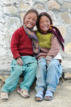 Girls in india with big smiles