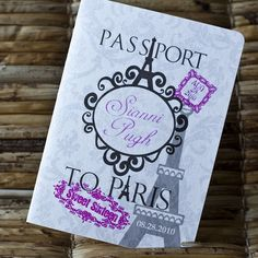 Deposit - Passport Invitation or Save the Date (Sianni's Sweet Sixteen Paris-Themed Design) on Etsy, $50.00