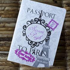 Deposit - Passport Invitation or Save the Date (Sianni's Sweet Sixteen Paris-Themed Design) on Etsy, $50.00
