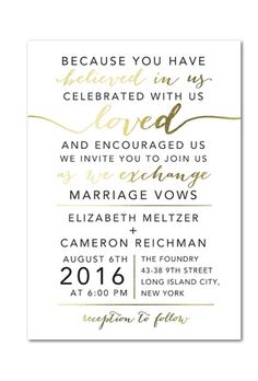 A gold foil stamped wedding invitation by @weddingpaper | Brides.com