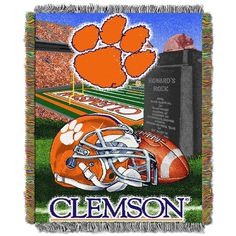 Use this Exclusive coupon code: PINFIVE to receive an additional 5% off the Clemson University HF Tapestry Throw at SportsFansPlus.com