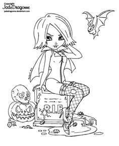 2013 Halloween - Lineart by JadeDragonne on @DeviantArt