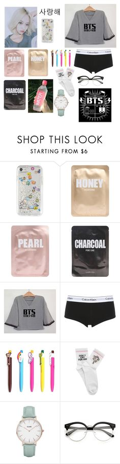 """""""YuJin sleep things! 🌸"""" by acrylicgarden ❤ liked on Polyvore featuring Rebecca Minkoff, Lapcos, Calvin Klein Underwear, Yeah Bunny and CLUSE"""