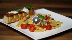 Pasta Pinuccia met bruchetta - recept | 24Kitchen