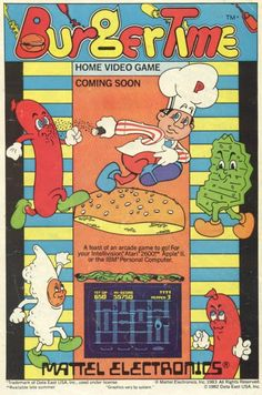 Burgertime for the Atari 2600 (1983) #retro #amiga #burgertime