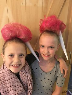 Whacky / Crazy Hair Day at school. We went with Cotton Candy. ☺️