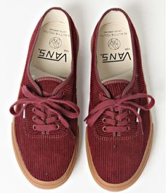 cordroy vans! ugh i really want these, but they're impossible to find :/ must be an older, limited edition style