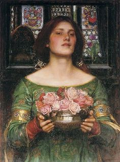 """...gathering rose buds...never realizing i was once so tender and fragrant.    """"Gather Ye Rosebuds While Ye May"""", 1908 ~ John William Waterhouse"""