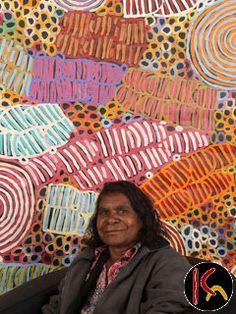 Awelye & Bush Melon, with the artist Betty Mbitjana