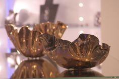 Vasi in ceramica effetto metallizzato