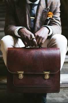 Briefcase – The Professional Bag Mens Fashion Blog, Men's Fashion, Fashion Bags, Classy Men, Leather Briefcase, Men's Grooming, Men's Accessories, Mode Style, Style Blog