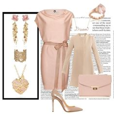 Style can be simple when you choose one color to work with. Fall in love with this golden pink style master piece. After all, your beauty is a work of art. Pink Fashion, Fashion Dresses, Fashion Looks, Womens Fashion, Pink Outfits, Cute Outfits, Pink Style, My Style, Fashion Advice