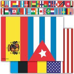 International Flags Straight Border Trim
