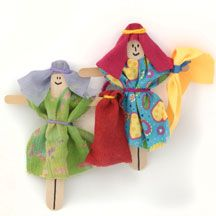 Dorcas Crafts-Bible Stick Puppet Crafts for Sunday School