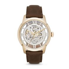 Transparent Watch  Townsman Automatic Leather Watch - Brown