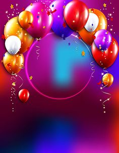 Children Colorful Balloons Vector Celebrate Holidays Background in 2019 Happy Birthday Wishes Photos, Happy Birthday Posters, Happy Birthday Frame, Birthday Photo Frame, Happy Birthday Wallpaper, Birthday Frames, Birthday Quotes, Balloon Background, Paper Background