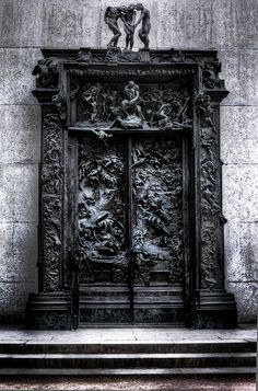 The Rodin Sculpture The Gates of Hell in Paris France.    *favourite piece of art EVER*