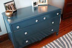 Painted dresser--my favorite color blue
