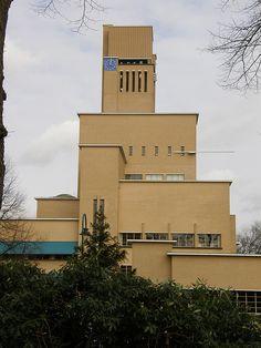het door Dudok ontworpen raadhuis van Hilversum