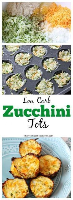 Low Carb Recipes This Zucchini Tot recipe is adapted for Phase 1 of the South Beach Diet! And yes, they are delicious! - This Zucchini Tot recipe is adapted for Phase 1 of the South Beach Diet! And yes, they are delicious! Vegetable Recipes, Vegetarian Recipes, Cooking Recipes, Healthy Recipes, Vegetarian Low Carb Meals, Easter Recipes Low Carb, Beach Food Recipes, Easy Cooking, Keto Recipes