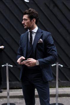 David Gandy - GC&S - Gentlemen with Style Dapper Gentleman, Gentleman Style, Sharp Dressed Man, Well Dressed Men, Suit Fashion, Mens Fashion, Fashion Menswear, Style Fashion, Dolce E Gabbana