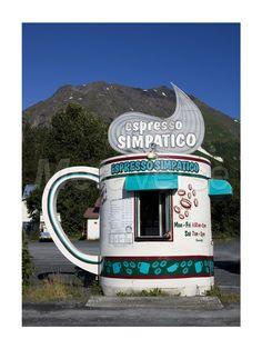 Espresso Simpatico Coffee Shop, Seward, Alaska art print at Coffee Decor