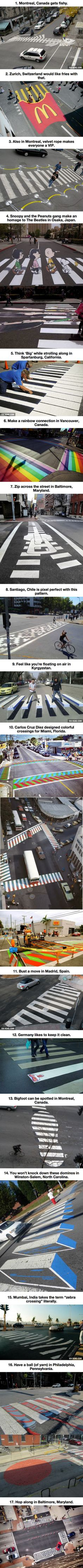 It's Safe To Say The Chicken Crossed These Road Because This Street-Artwork Is Mindblowing.