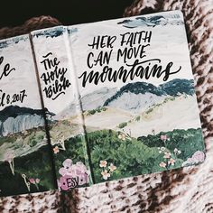 Introducing hand painted bibles by The Hipster Housewife! My Bible, Bible Art, Bible Verses, Scripture Signs, Personalized Gifts For Her, Bible Covers, In Christ Alone, Illustrated Faith, Apps