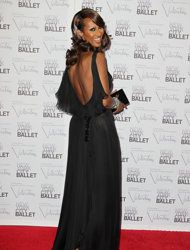 This Sept. 20, 2012 photo released by Starpix shows Ethiopian model Iman at the New York City Ballet Fall Gala honoring Valentino Garavani at Lincoln Center in New York. Valentino, who created most of the vibrant costumes and dramatically upped the glamour quotient of the evening, attracting movie stars, supermodels and socialites galore. (AP Photo/Starpix, Amanda Schwab)