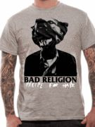 Officially Licensed Bad Religion imported T-shirt design printed on a grey 100% cotton short sleeved T-shirt.
